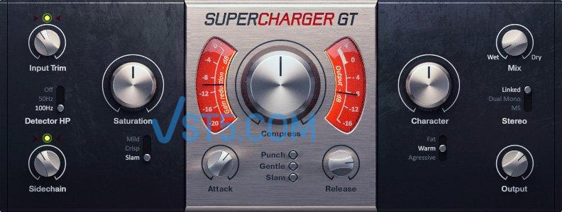 Native Instruments Supercharger GT v1.3.1 Update Incl Patched and Keygen-R2R 电子管压缩机插图