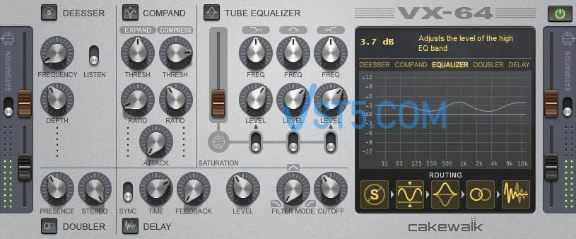 Cakewalk Vx 64 Vocal Strip VST v1.0.0-PEACE-OUT 人声专用效果器插图